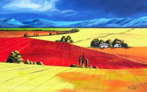 Autumn fields by Pietie Booysen