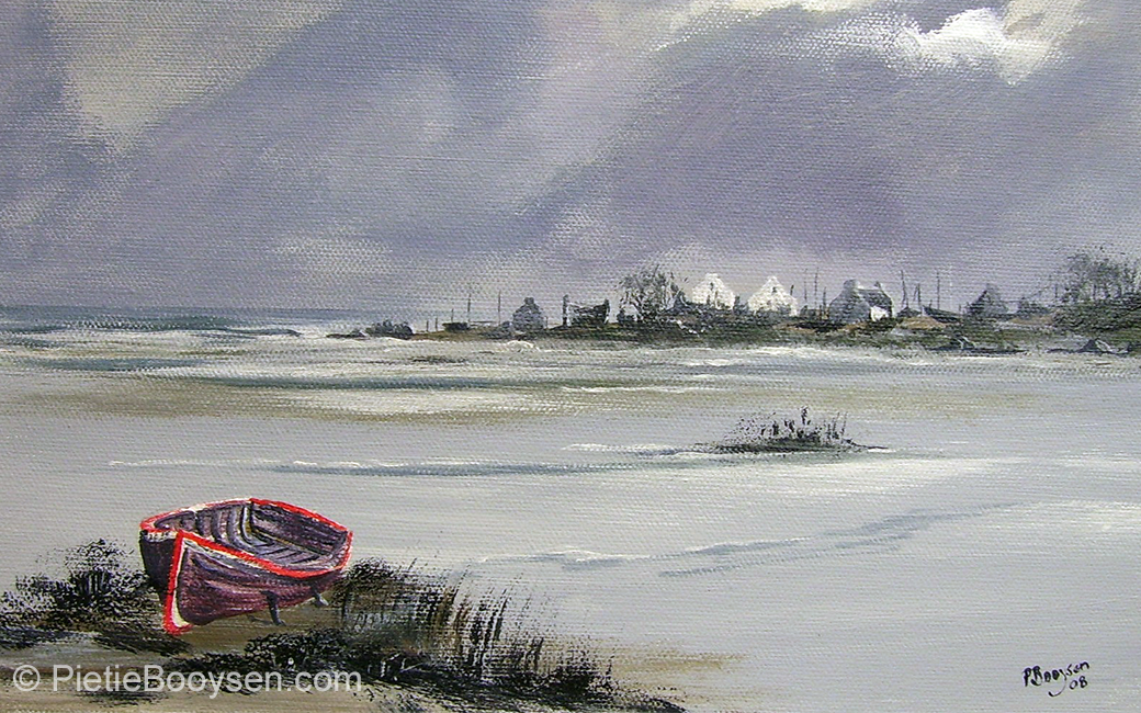 Boat on beach by Pietie Booysen
