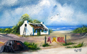 Fisherman's cottage and laundry by Pietie Booysen