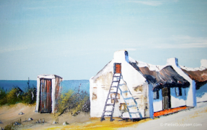 Fisherman's ottage and outhouse by Pietie Booysen