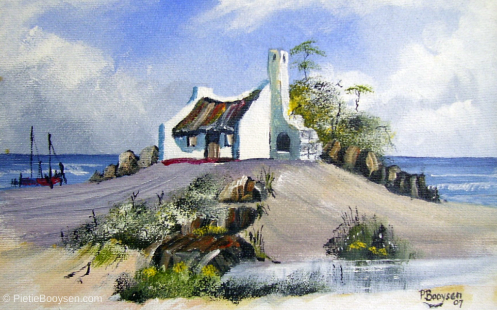 Fisherman's cottage on a hill by Pietie Booysen
