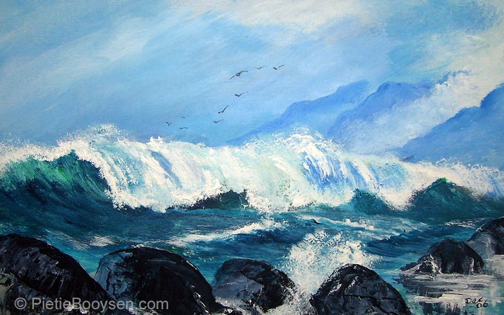 Crashing waves by Pietie Booysen
