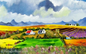 Farmlands, fields and flowers by Pietie Booysen