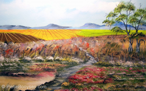Field and flowers by Pietie Booysen