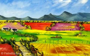 Golden fields by Pietie Booysen