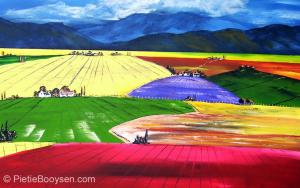 Landscape of colour by Pietie Booysen