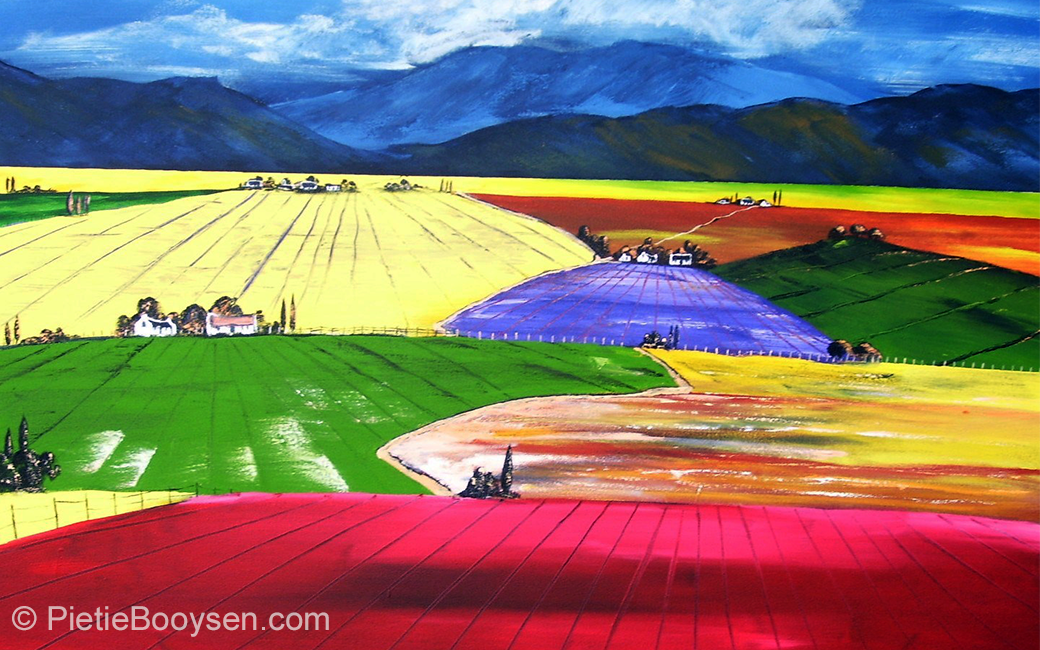 Landscape of colour by Pietie Booysen