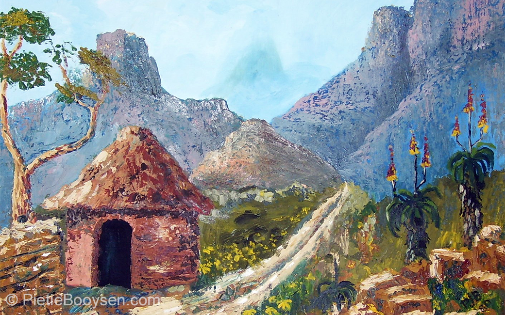 Mountain hut by Pietie Booysen